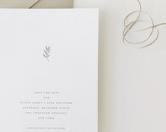 Olivia Wedding Save the Date - Sample