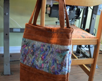 Sweden (leather) and felt tote bag