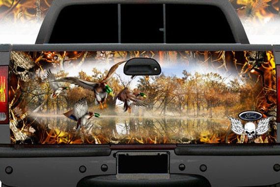 Duck Hunting Tailgate Wrap Mallard Buck Deer Cowboy Camo Wraps