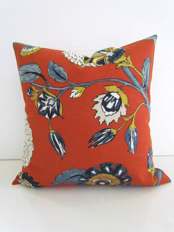 Orange Pillows Orange Throw Pillows Blue Pillows Navy Blue