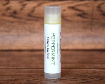 All Natural Lip Balm - Peppermint Lip Balm - Glossy Lip Balm - Natural Lip Balm - Beeswax Lip Balm - Moisturizing Lip Balm - Lip Butter
