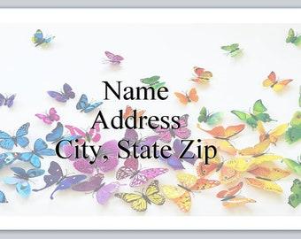 30 Personal Return Address Labels Butterflies background (p 459)