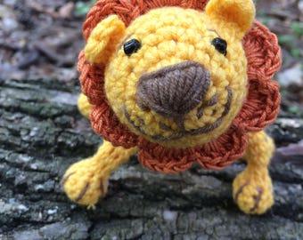Crochet Toy Lion, Lion, Toy Animal, Sleeping Buddy
