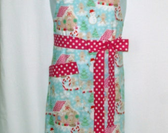 Plus Size, Mommy Apron, Matching, Daughter,  Christmas, Gingerbread, Customize Personalized With Name, No Shipping Fee, Ships TODAY 1133