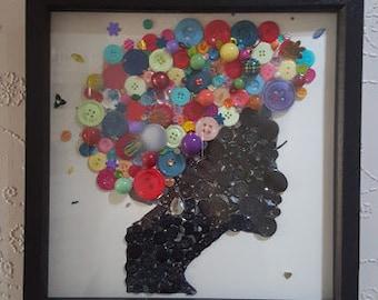 "Scintillula Original Mixed-Media Artwork Titled ""Duga Kosa"""