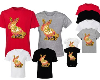 Family Easter Shirts Easter Family T-Shirts Easter Bunny T-Shirts Happy Easter