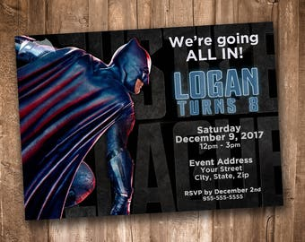 Justice League Party Invitation *Personalized Digital Printable*