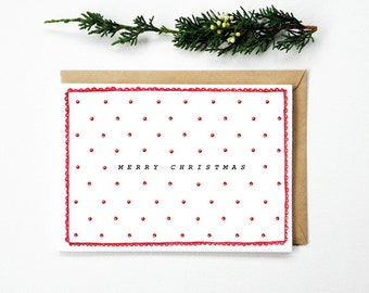Red Spots Christmas Card