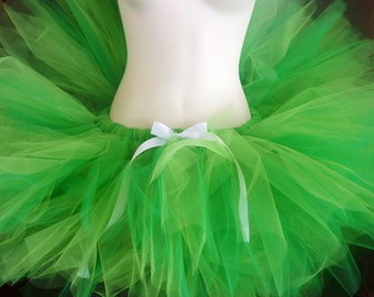 Short and Sassy Ballet Style Tutu - SEWN and Super Full Tulle Skirt - Choose your colors and length - For Teens and Women