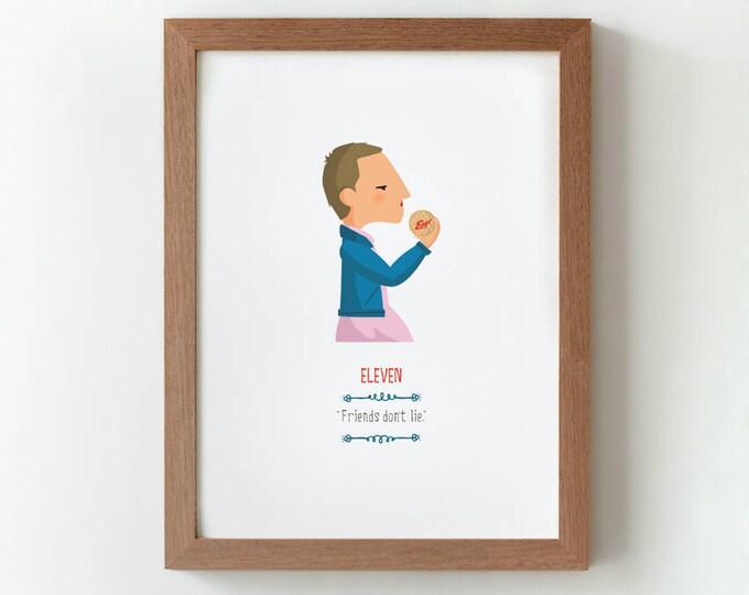 """Ilustración """"Eleven"""". Basada en la serie """"Stranger Things""""."""