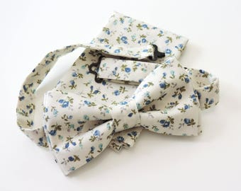 bow tie with matching pouch