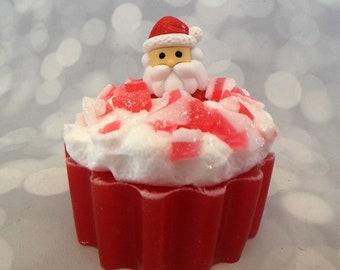 Santa Soap - Santa Claus Soap - Candy Cane Soap - Candy Soap - Christmas Soap - Holiday Soap - Stocking Stuffers - Kids Soap - Novelty Soap