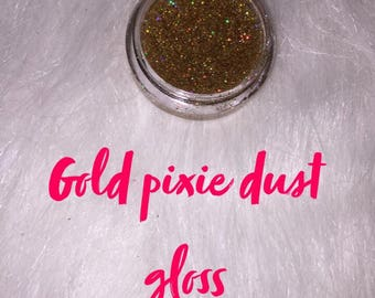 Gold pixie dust gloss