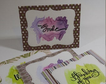 Note Card Set - Watercolor Greetings