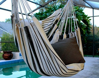 Fine Cotton Hammock Chair, Made in Brazil