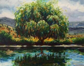 Napa Pond Original Acrylic Painting