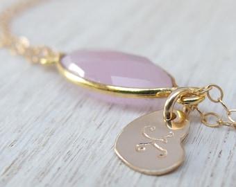 Flower girl gift Bridesmaid gift Flower girl bracelet bridesmaid jewelry Initial bracelet Personalized bracelet Jewelry gift for Bridesmaids