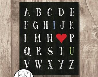Printable I Love You Alphabet