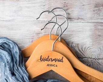 Personalized Hanger for Bride / Laser Engraved Hangers for Wedding / Personalized Hanger Bridesmaid / Personalized Hanger for Wedding Dress