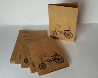 Set of 6 Biker Note Cards