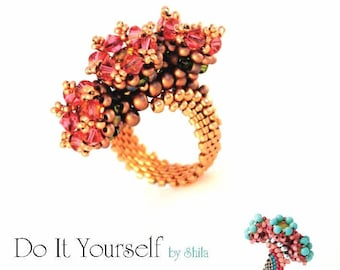 Step by step INSTANT download Pdf beading PATTERN Ring #6
