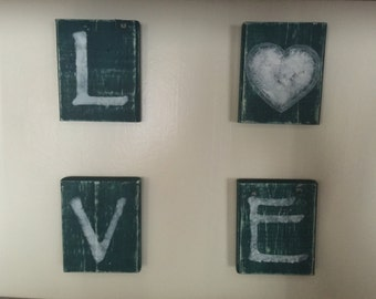 Teal Love wall decor Can personalize for free .Great wedding gift gallery wall