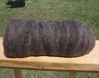 Charcoal Border Leicester Roving