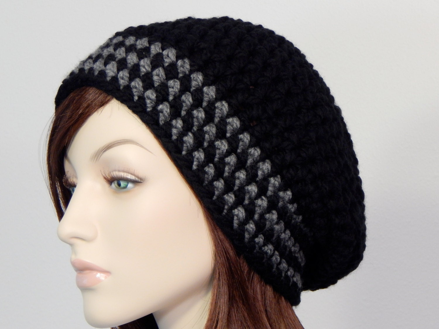 Crochet PATTERN PDF, The Lilah Slouch Beanie, Bulky Slouchy Hat ...