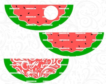 watermelon svg - summer svg - svg files for silhouette - cutting files  .SVG, .PNG .DXF -cutting file- commercial use svg