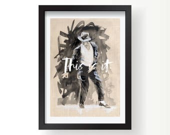 Michael Jackson This Is It MJ Office wall art print, Posters and Prints, Office print