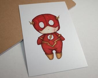 Mini Flash - 4x6 Print [ DC / Fan Art / Chibi ]