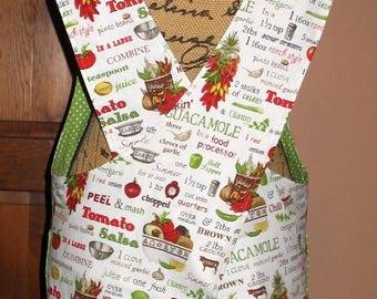 Cross Back apron -Sm/Med