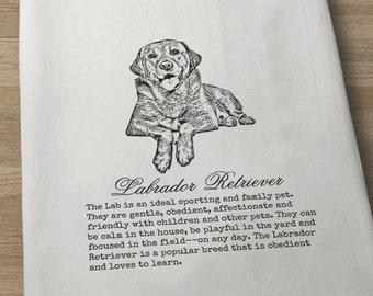Labrador Retriever Dog Towel, Lab Towel, Dog Towel, Dog Lover Towel, Flour sack Towel, Tea Towel, Kitchen Towel, Cotton Towel, Retriever