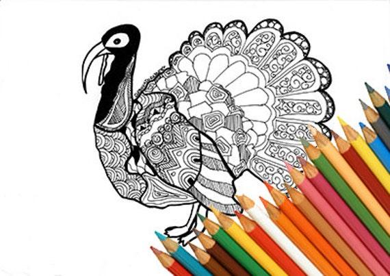 Tacchino da colorare giorno del ringraziamento disegno da - Tacchino stampabile per il ringraziamento ...