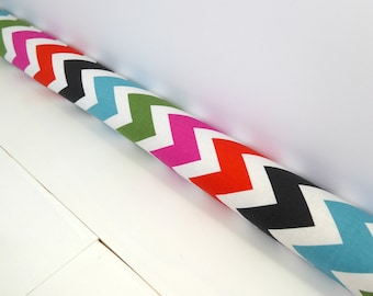 Chevron Draft Stopper - Door Snake -  Modern Home Decor - Multi Colored Chevron Draft Stopper. 152