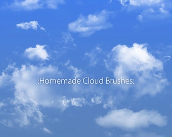 Photoshop Cloud Brushes.  Cloud brushes for photoshop
