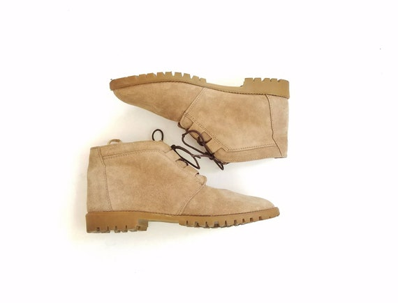 Suede Boot Up Brown Womens Suede Lace Fashion Spring 5 Ankle 9 Vintage West Booties Boots Plaid Hightops Work Boots Points Bootie Leather Cq6fZ0a