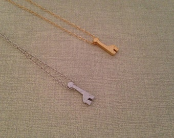 Silver or Gold Giraffe Necklace, Tiny giraffe, Animal Jewelry, Little girl's necklace