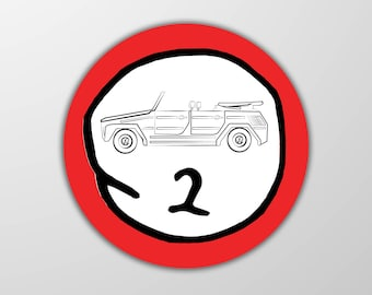 VW Thing Sticker - Thing 2