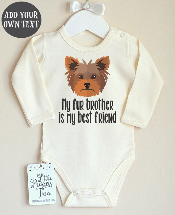 Dog Baby Clothes Yorkshire Baby Bodysuit Cute Baby Romper