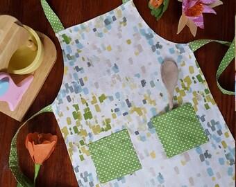 Child's Apron, Handmade, Unique, Kid Dress-up, Cooking, Baking