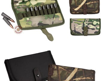 Hunting Cartridge Belt Holder Shotgun Ammo Wallet 12 Gauge, Shotgun Shell Holder Pouch Gift For Dad