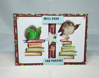 Congratulations/Well Done Card - Exams/Graduation - luxury personalised unique quality bespoke UK