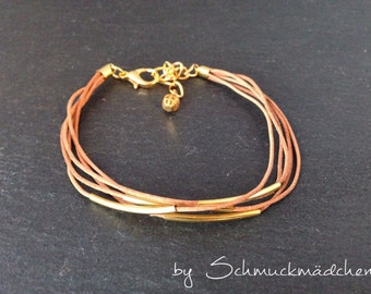 Leather strap gold nature