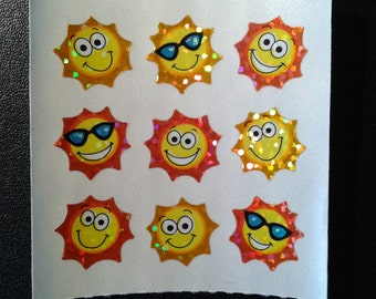 Sandylion Stickers Scrapbooking vintage Glittery SUN, SUNS (1 mod)