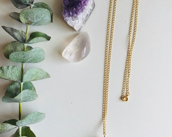 LOVE Necklace, Rose Quartz Nugget Necklace, Gemstone, Mala Necklace, Boho, Yoga Necklace, Crystal Healing Jewelry, Spiritual Gift