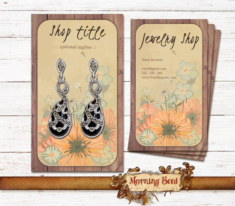Jewelry holder card 2 in 1 Editable business cards Jewelry