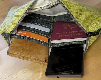 Travel bag for documents and mobile