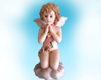 Vintage Lefton Hand Painted Cherub -From The Celestial Cherubs Collection