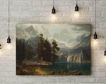A Falcon in the Rockies, Star Wars Themed Parody Art, Custom Raised Canvas Art Piece